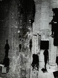 Artwork by Umbo, EERIE STREET, Made of Ferrotyped gelatin silver print