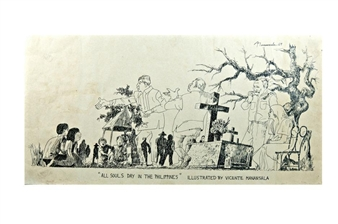 Ilustrated, 'All Souls Day In The Philippines' By Vicente Manansala ,1969