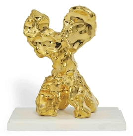 Artwork by Marcel Wanders, One Minute Sculpture, Made of glazed clay and golden luster