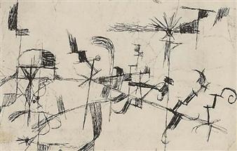 Ohne Titel (abstracte Zeichnung) by Paul Klee