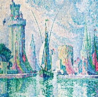 Les Tours Vertes, La Rochelle; by Paul Signac