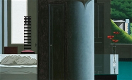 Artwork by Bruce Cohen, Untitled (Interior Scene), Made of Acrylic on canvas