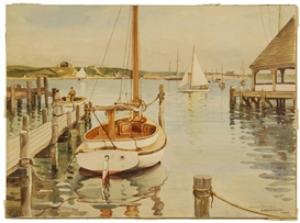 Julius Delbos, Edgartown Harbor, Martha's Vineyard