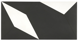 Artwork by Lygia Clark, Superfície Modulada N˚ 2, Made of industrial paint on wood
