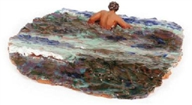 Artwork by Thomas Stimm, Im Meer, Made of Painted glazed ceramic