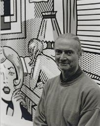 John Jonas Gruen , 3 Works: Portrait of Roy Lichtenstein; and companion photographs