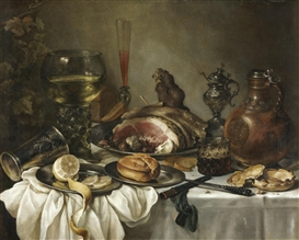 Artwork by Pieter Claesz, Still Life of a Roemer, Made of oil on canvas