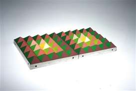 Artwork by Hans Jörg Glattfelder, Two reliefs 'Pyramid', Made of Acrylic, plastic, wood