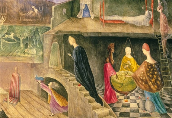 The House Opposite (detail), by Leonora Carrington, 1945