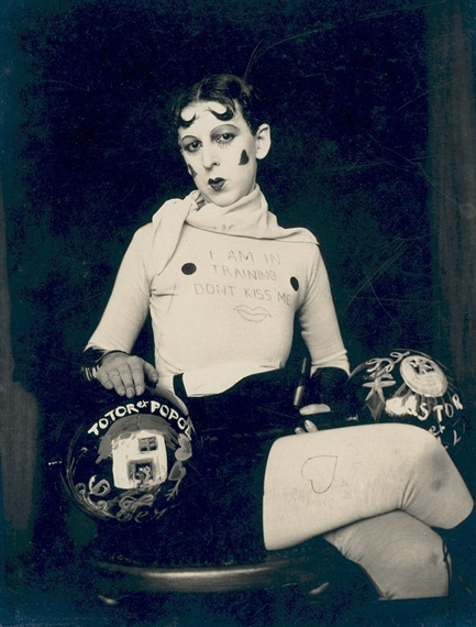 Self Portrait (As weight trainer),  by Claude Cahun, 1927