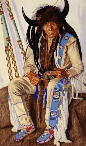 Winold Reiss, Chief Medicine Boss Ribs, Blackfeet Medicine Man