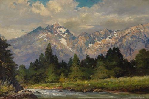Robert W Wood Snake River And The Tetons Mutualart