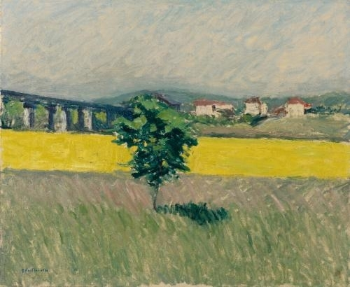 Artwork by Gustave Caillebotte, Prairie Au Pont D'argenteuil, Made of Oil on canvas