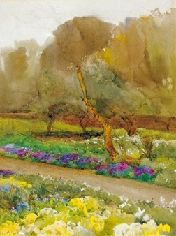 A BORDER IN FLOWER By Mildred Anne Butler