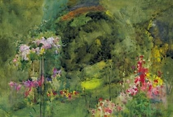A SHADY CORNER OF THE GARDEN By Mildred Anne Butler