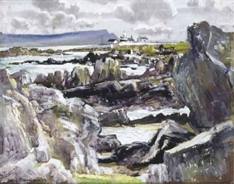 COAST AT SHROVE, COUNTY DONEGAL By Patric Stevenson ,1959