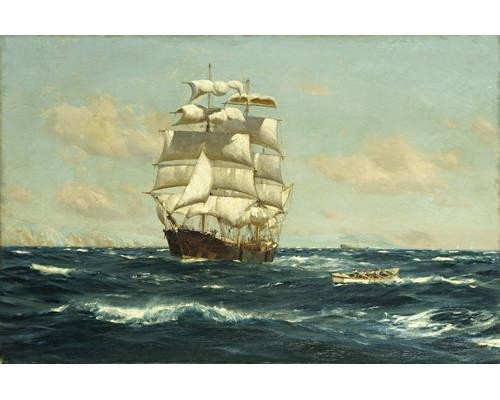 Thomas Jacques Somerscales | A Windjammer heaving to off