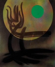 Artwork by James Pichette, Points de lune 1, Made of Oil on canvas
