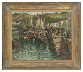 Artwork by Arturo Pacheco Altamirano, Bringing in the catch, Made of oil on canvas