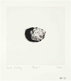 Artwork by Lisa Milroy, 2 works: Rock #18; Rock #19, Made of etching