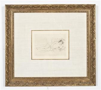 Dora Maar (1907-1997) - Jeune Femme Nue Assise dans un |Femme Nue Couchee