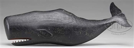 Artwork by Clark Voorhees, FOLK ART CARVED SPERM WHALE, Made of sculpture