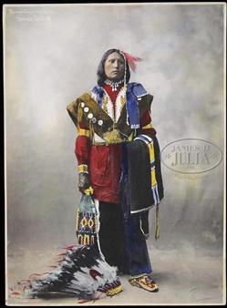 Last Horse Herman Heyn 8 x 10 Photograph Circa 1899 Sioux Warrior