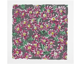 Artwork by Lisa Milroy, Flowers, Made of Screenprint printed in colours