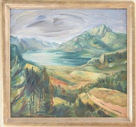 Artwork by Frederic Taubes, Lake in the Mountains, Made of Oil on canvas