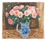 Georges Andre Klein, Bouquet de Roses au Vase Blue