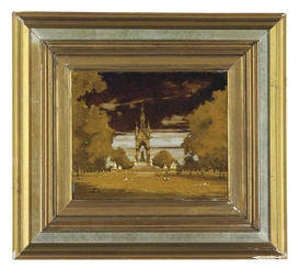 Artwork by Mark Innerst, Albert Memorial, Made of oil on acrylic on masonite