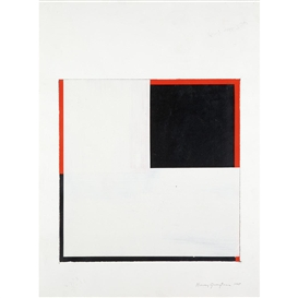 Harvey Quaytman, Study for Covering Letter I