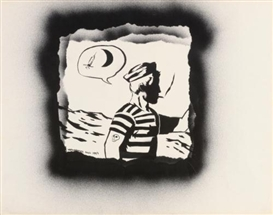 Artwork by David Wojnarowicz, Untitled, Made of aerosol paint on paper