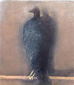 Artwork by Holly Roberts, Small crow, Made of oil on canvas