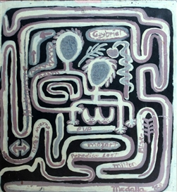 Artwork by David Medalla, Maze, Made of Acrylic on paper