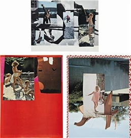 Artwork by Thomas Eggerer, Three works: Untitled, Made of collage on paper