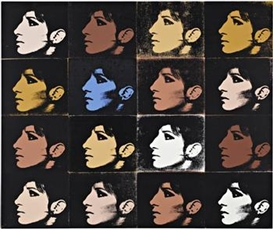 Artwork by Deborah Kass, 16 Barbras (The Jewish Jackie Series), Made of Synthetic polymer and silkscreen ink on canvas