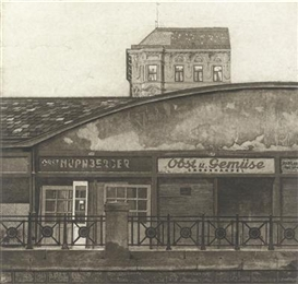 Artwork by Franz Zadrazil, Fruit and Vegetable Store, Made of etching