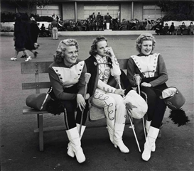 Artwork by John Gutmann, Three Majorettes, 1939, Made of gelatin silver print