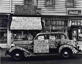 Artwork by John Gutmann, 'Yes, Columbus Did Discover America!', San Francisco, 1938, Made of gelatin silver print