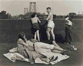 Artwork by Walter Rosenblum, Children on Roof, Pitt St., N.Y., 1938, Made of gelatin silver print