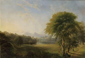 Artwork by Robert S. Duncanson, Untitled (Landscape), Made of Oil on canvas