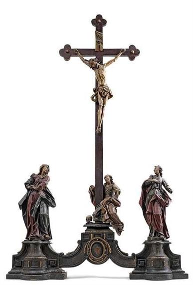 Ordinaire Artwork By Konrad Hegenauer, A Fine Tabletop Crucifix, Made Of Limewood