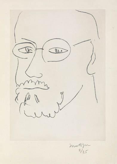 Artwork by Henri Matisse, Autoportrait de trois-quarts, Made of Lithograph on Chine appliqué