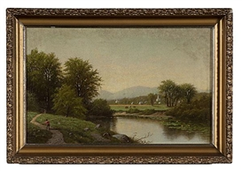 Artwork by James McDougal Hart, The Delaware river, Made of oil on canvas