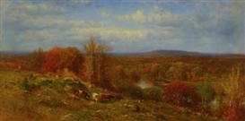 Artwork by James McDougal Hart, Autumn Landscape, Made of Oil on canvas