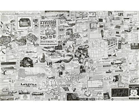 Artwork by Michael Landy, A Commodity is an Ideology made Material, Made of ink on paper
