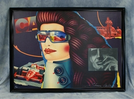 Artwork by Shimon Okshteyn, Cabin Tobacco Company, Japan, Race Car Driver, Made of Color lithograph