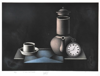 Le Cafe au Petit Matin By Mario Avati ,1980