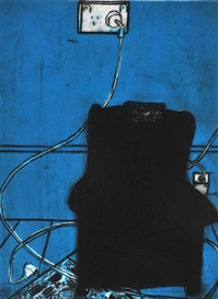 Artwork by Katherine Hattam, Blue Chair, Made of lithograph